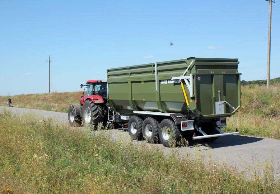 Remorca TSP 39 - poziție transport